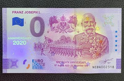 0 Euro Souvenir bankovka FRANZ JOSEPH I. [ANNIVERSARY] 2021 - RRR