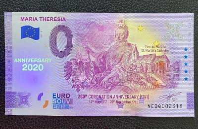 0 Euro Souvenir bankovka MARIE TEREZIE [ANNIVERSARY] 2021 - RRR
