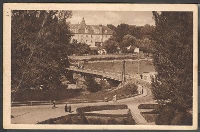 Slovensko ca 1938 Piešťany kúpele lázně, Grand hotel Royal, živá