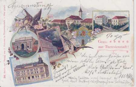 Terezín (Theresienstadt) - kostel, kasárna, brána,