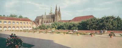 Praha - terasa u jízdárny - 21 x 9 cm