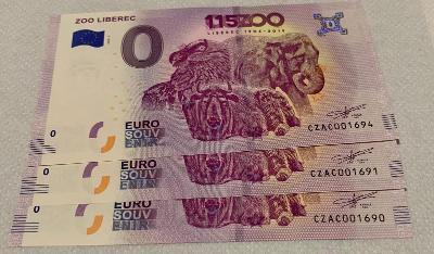 0 Euro Souvenir bankovka ZOO Liberec 2019-1