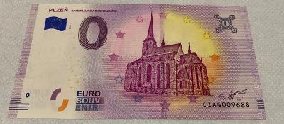 0 Euro Souvenir bankovka Plzeň
