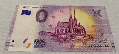 0 Euro Souvenir bankovka Brno