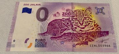 0 Euro Souvenir bankovka Zoo Jihlava 2020-1
