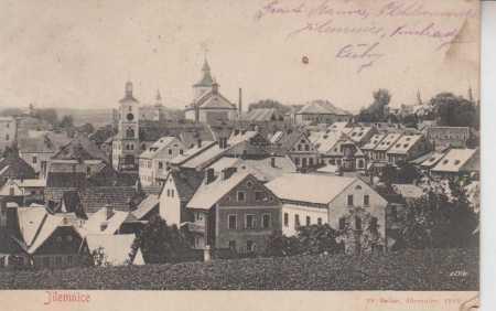 Jilemnice, celkový pohled na město - Pohlednice