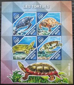 Niger 2015 Želvy Mi# 3882-85 Kat 12€ 2511