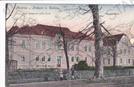 Krásno nad Bečvou, chlapecká měšť.škola, národní š
