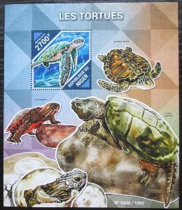 Niger 2015 Želvy Mi# Block 481 Kat 10€ 2511