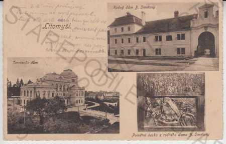 Litomyšl - Smetanův dům, Rodný dům B. Smetany, Pam
