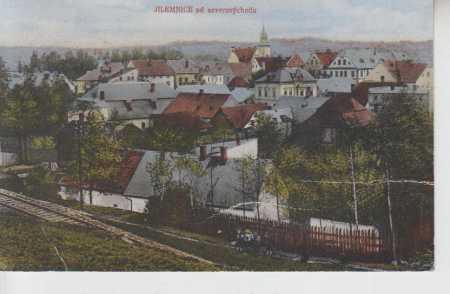 Jilemnice, celkový pohled na město od severovýchod - Pohlednice