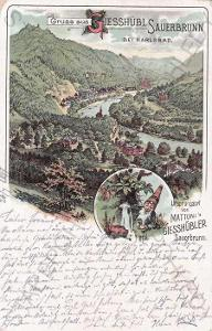 Kyselka (Geisshübl Sauerbrunn), celkový pohled, pr