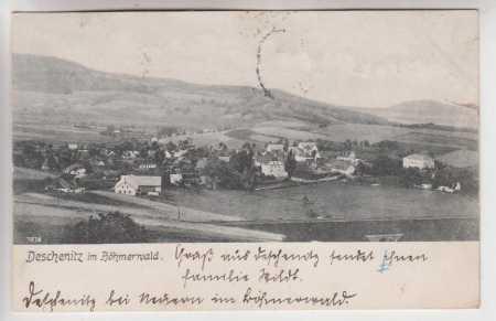 Dešenice (Deschenitz im Böhmerwald), celkový pohle