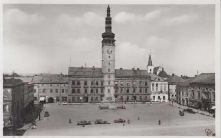 Litovel- náměstí, AUTO, povoz (trh)