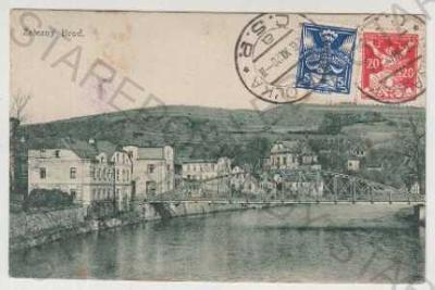 Železný Brod, dům, řeka, most