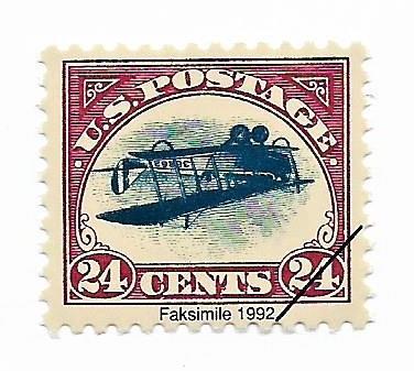 Známka faksimile vzácné drahé známky USA značené - strana 1