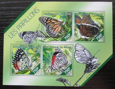 Niger 2014 Motýli Mi# 2775-78 Kat 12€ 2513