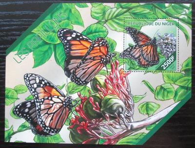 Niger 2014 Motýli Mi# Block 297 Kat 10€ 2513