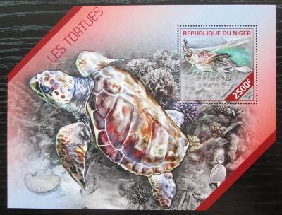 Niger 2014 Želvy Mi# Block 300 Kat 10€ 2513