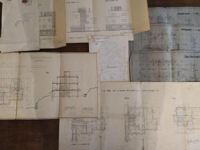 Stavební plány dům v Praze 30. léta