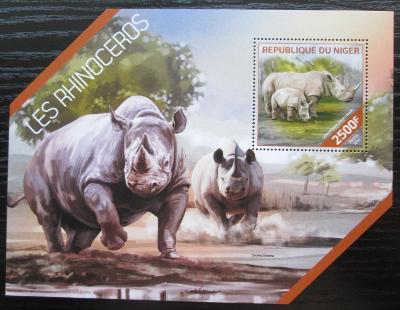 Niger 2014 Nosorožci Mi# Block 307 Kat 10€ 2513