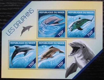 Niger 2014 Delfíni Mi# 2865-68 Kat 12€ 2514