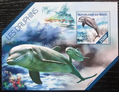 Niger 2014 Delfíni Mi# Block 315 Kat 10€ 2514
