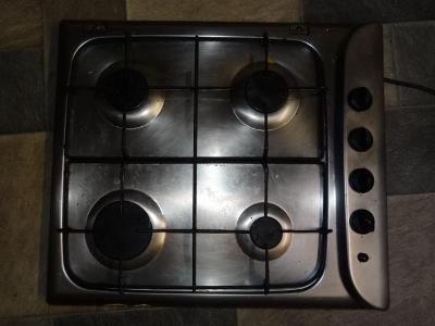 Plynová varná deska plynovy sporak Indesit P 640 A nerez, zemni plyn