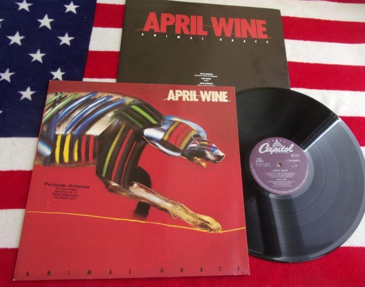 💥 LP: APRIL WINE - ANIMAL GRACE, skoro jako nová, West Germany 1984 - Hudba