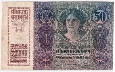 50 Kronen (Korona) 1914 - bez přetisku - série 1015