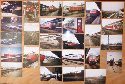 Soubor železničních fotografií ČR + SRN + ostatní cca 2000 - 2004