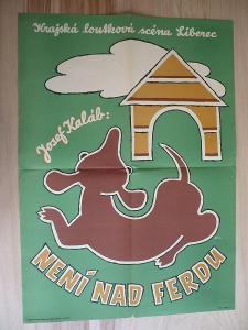 Není nad Ferdu (plakát, loutkové představení, loutkov
