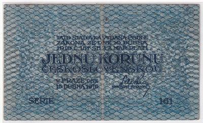 1 Kč 1919 - série 161
