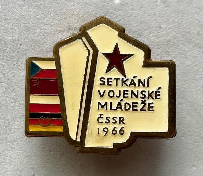 VOJENSKÝ ODZNAK-SETKÁNÍ VOJENSKÉ MLÁDEŽE 1966