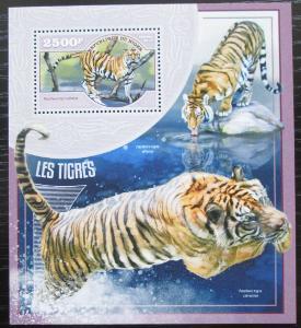 Niger 2014 Tygři Mi# Block 358 Kat 10€ 2517