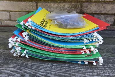 Závěsné složky, desky PENDAFLEX, 87 ks  + rozlišovače