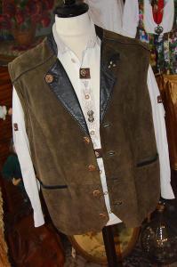 Dobová kožená vesta vel. 52
