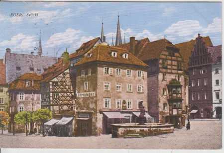 Cheb (Eger), Stöckl, kolorovaná - Pohlednice