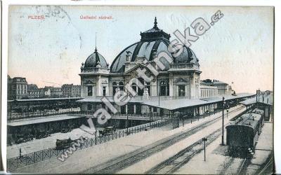 Plzeň nádraží železnice vlak