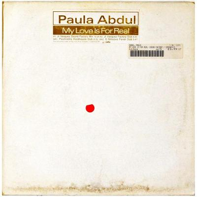 "Gramofonová deska PAULA ABDUL - My love is for real (12"")"