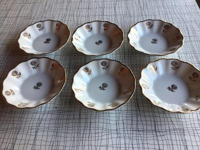 Šest porcelánových talířků - CL Czechoslovakia