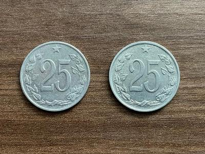 Československo - 25 hal. 1962 a 1963