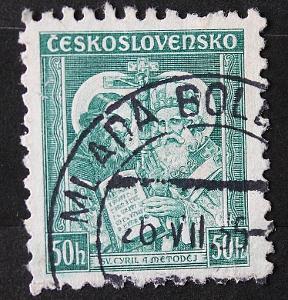 Československo ,50h , Cyril a Metoděj    / Známky (1a)