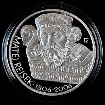 MATĚJ REJSEK 2006 // PROOF // 200 Kč pamětní stříbrná mince ČR