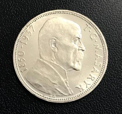 Stříbrná mince 20 Kč Úmrtí prezidenta T. G. Masaryka - 1937