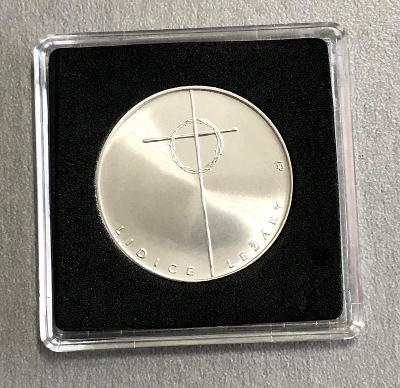 Stříbrná mince 100 Kčs Lidice - Ležáky 50. výročí 1992