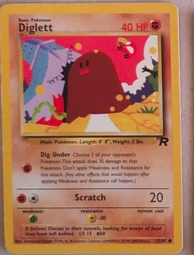 Karetní hra Pokemon Basic Pokémon Diglett