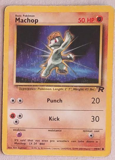 Karetní hra Pokemon Basic Pokémon Machop