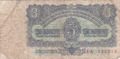 3 Kč Československych