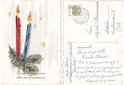 Německo - Vánoční pohlednice